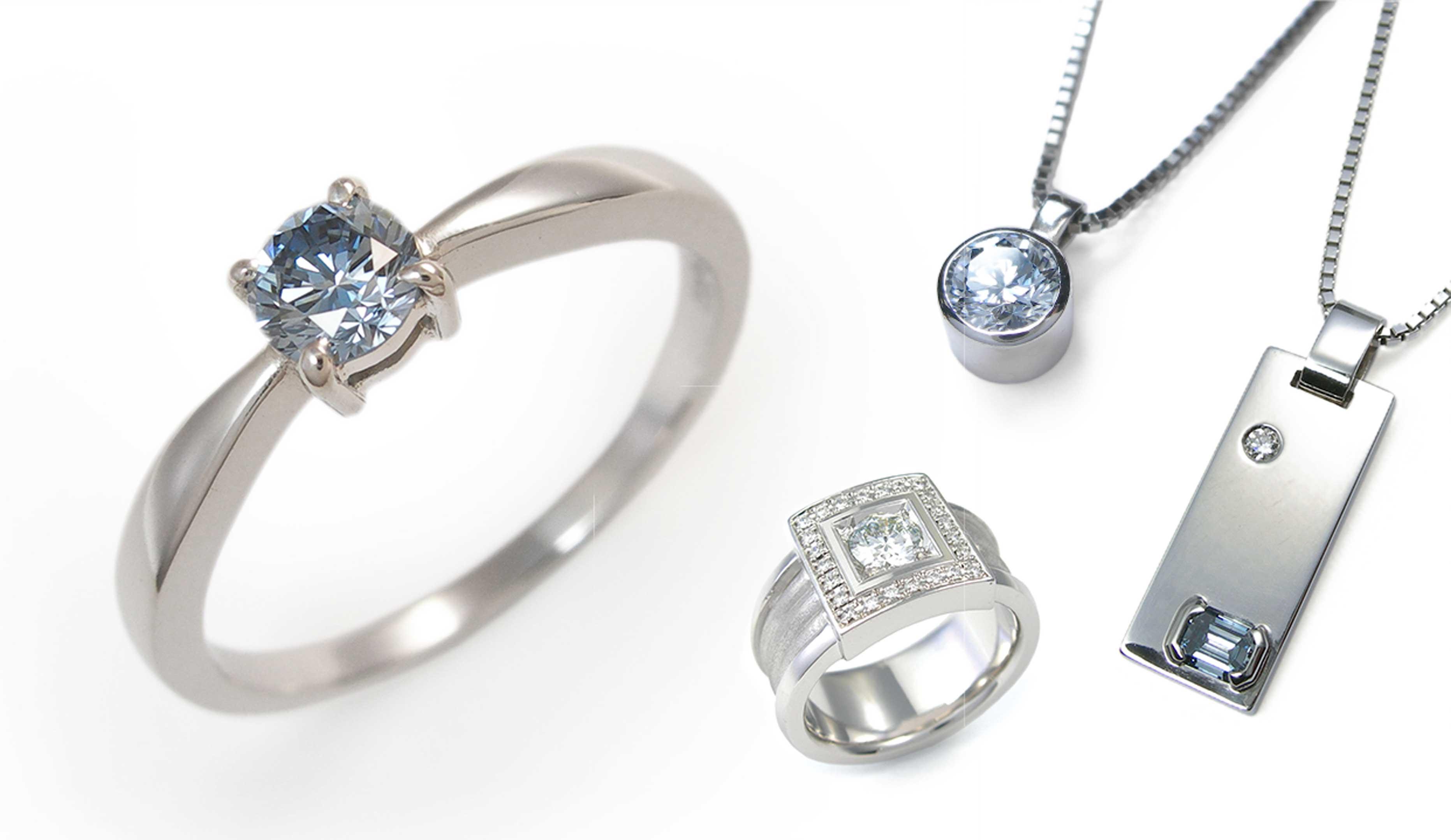 メモリアル・ダイヤモンドのジュエリーの画像